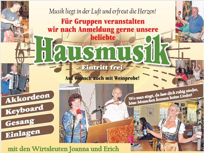 Landgasthaus Taubertal Erich hausmusik